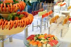 Buffet dinner. Buffet food dinner at restaurant Stock Images