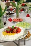 Buffet dinner. Buffet food dessert dinner at restaurant Royalty Free Stock Photography