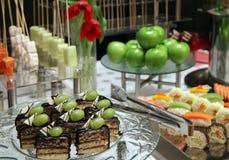 Buffet dinner. Buffet food dessert dinner at restaurant Stock Photo