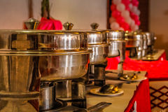 Buffet dinner in hotel Royalty Free Stock Image
