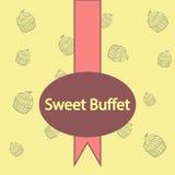 Buffet doux Images libres de droits