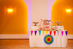 Buffet doux d'anniversaire Photos libres de droits