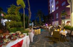 Buffet extérieur de dîner Photo libre de droits