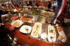Buffet at ferry Royalty Free Stock Photography