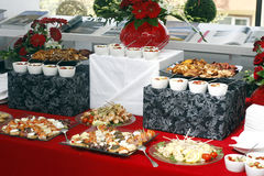 Buffet food. Catering arangement on table Stock Image