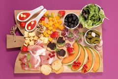 Buffet food. Assorted snack and buffet food stock photography
