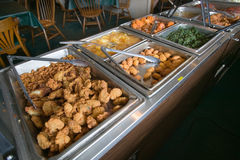 Buffet food bar in Eastern Shore Stock Photos