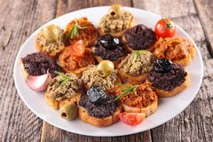 Buffet food,canape Royalty Free Stock Image