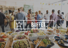 Buffet Food Catering Cuisine Culinary Eating Concept Stock Image