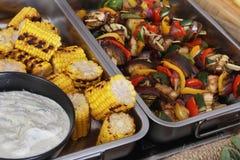 Buffet food selection Stock Image