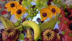 Buffet: fruit is beautiful on the table stock video