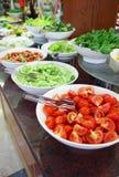 Buffet, groenten Royalty-vrije Stock Afbeeldingen