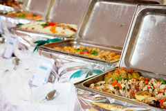 Buffet heated trays Royalty Free Stock Image
