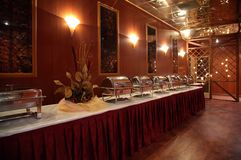 Buffet in hotel Royalty Free Stock Photo