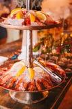 Buffet italien coloré et délicieux savoureux dans le restaurant Images stock