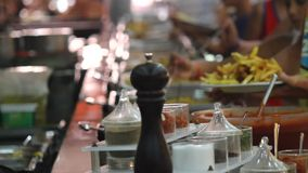 Buffet line stock footage