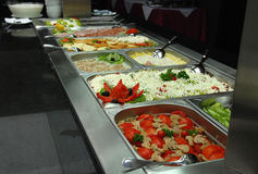 Buffet line Stock Image