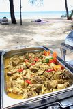Buffet lunch in the island Stock Photo