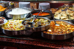 Buffet lunch in Turkish restaurant Royalty Free Stock Image