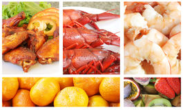 Buffet Meal. With a Variety of Food royalty free stock image