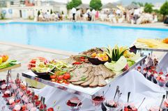 Buffet outdoor royalty free stock photo