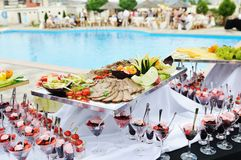 Buffet outdoor Royalty Free Stock Photography