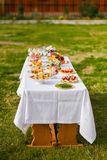 Buffet outdoor Stock Images