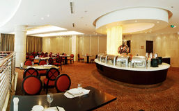Buffet restaurant. With modern decoration Royalty Free Stock Images