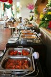 Buffet at restaurant. The buffet food at restaurant Royalty Free Stock Image