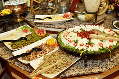 Buffet Restaurant at Hotel. Main dishes served in international buffet restaurant at hotel Stock Photography