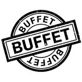Buffet rubber stamp Stock Images