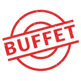 Buffet rubber stamp Stock Image