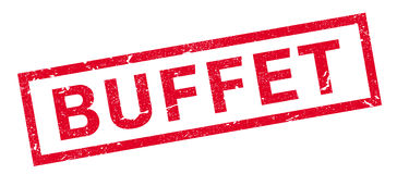 Buffet rubber stamp Royalty Free Stock Photo