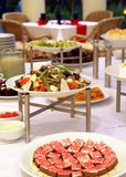 Buffet salad dinner. Buffet food appetizer salad dinner at restaurant Stock Photo
