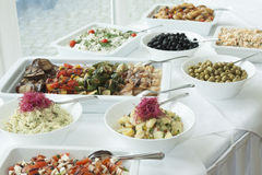 Buffet of salads Royalty Free Stock Photo