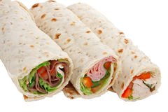 Buffet of sandwich wrap Royalty Free Stock Photos