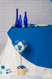 Buffet served in the winter blue Stock Images
