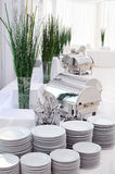 Buffet setting stock images
