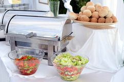 Buffet setting. In a hotel Royalty Free Stock Image