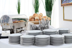 Buffet setting. In a hotel Stock Images
