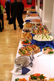 Buffet with snacks at presentation #1 stock photo