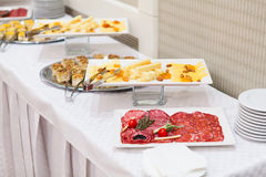 Buffet style food Royalty Free Stock Images