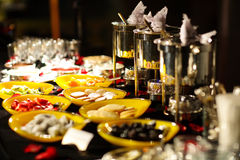 Buffet Style in hotel Royalty Free Stock Photography