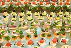 Buffet table Royalty Free Stock Photos