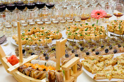 Buffet table Royalty Free Stock Photo