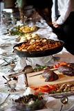 A buffet table Stock Image