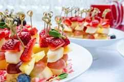 Buffet table with canape Stock Images