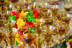 Buffet table with Cognac or Brandy Stock Photography