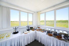 Buffet table for excursions Stock Images