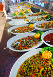 Buffet table. Full of delicious food Royalty Free Stock Images